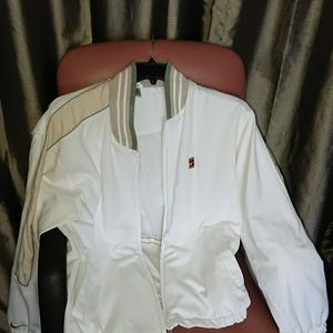 Nike M jacket white lined golf preowned